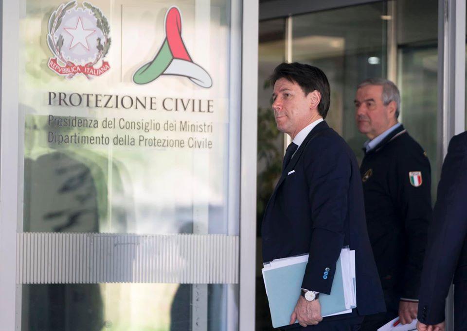 Giuseppe Conte Protezione Civile